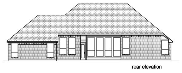 European Traditional House Plan 87978 Rear Elevation