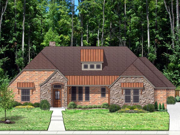 European Traditional Tudor House Plan 87979 Elevation