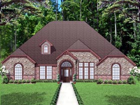 Traditional , European House Plan 87980 with 4 Beds, 3 Baths, 2 Car Garage Elevation