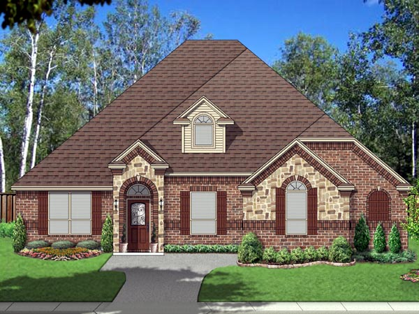 European Traditional House Plan 87981 Elevation