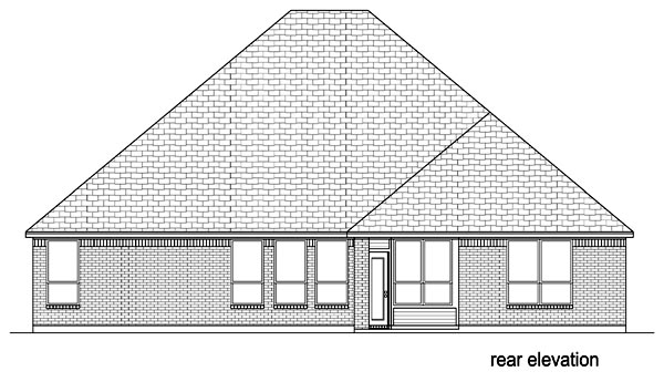 European Traditional House Plan 87981 Rear Elevation