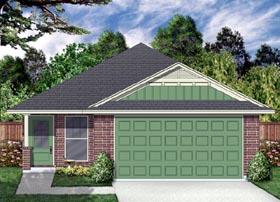 Cottage , Craftsman , Traditional House Plan 87982 with 4 Beds, 2 Baths, 2 Car Garage Elevation