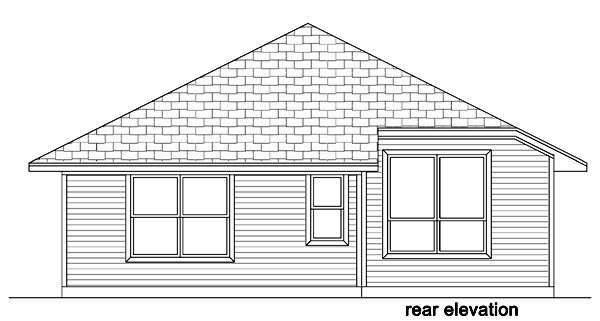 Cottage Craftsman Traditional House Plan 87982 Rear Elevation