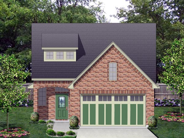 Cottage House Plan 87983 with 3 Beds, 3 Baths, 2 Car Garage Elevation