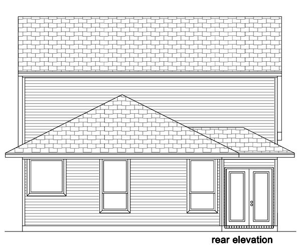 Cottage House Plan 87983 Rear Elevation