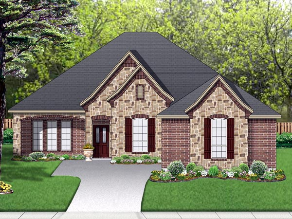 European Traditional House Plan 87984 Elevation
