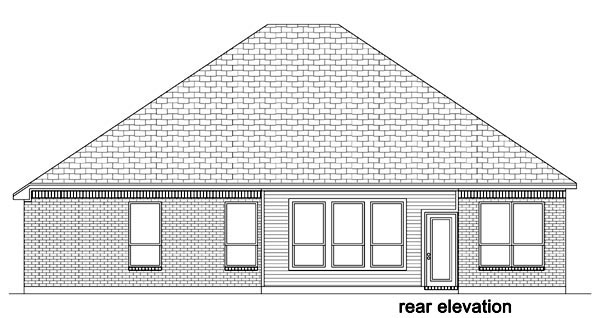 European Traditional House Plan 87984 Rear Elevation