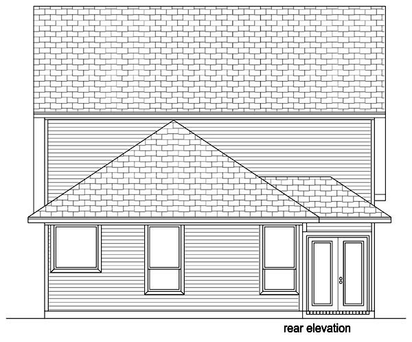 Cottage House Plan 87986 Rear Elevation