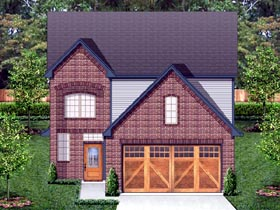 Traditional House Plan 87987 with 4 Beds, 4 Baths, 2 Car Garage Elevation