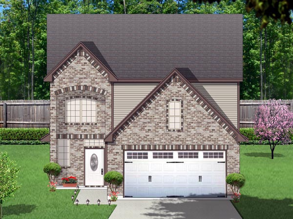 Traditional House Plan 87988 with 5 Beds, 4 Baths, 2 Car Garage Elevation