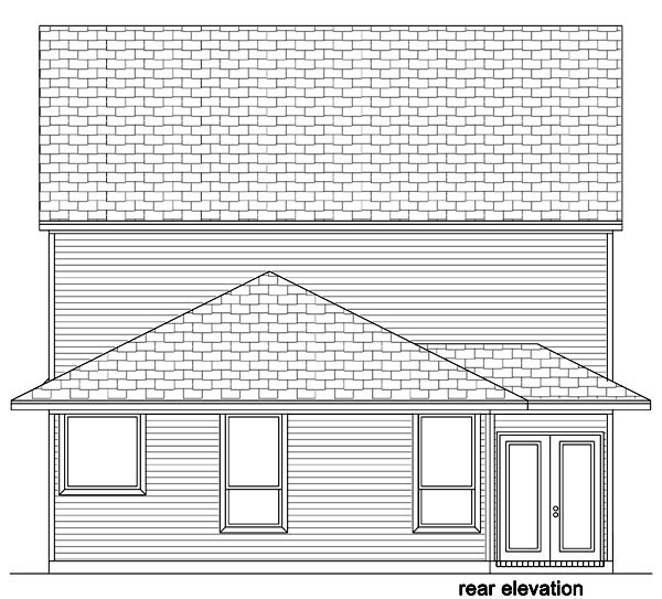 Traditional House Plan 87988 Rear Elevation