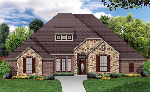 European Traditional Tudor House Plan 87989 Elevation