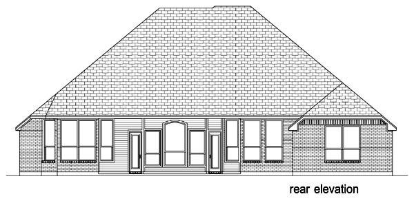 European Traditional Tudor House Plan 87989 Rear Elevation