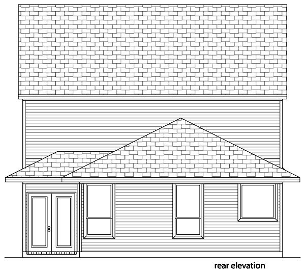 Traditional House Plan 87990 Rear Elevation