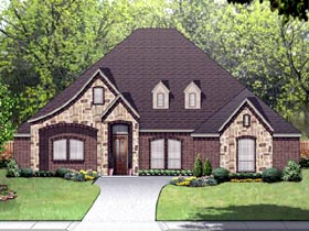 European Traditional House Plan 87991 Elevation