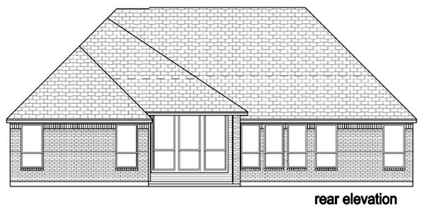 Traditional Tudor House Plan 87993 Rear Elevation