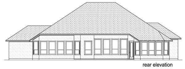 European, Mediterranean, Traditional House Plan 87995 with 5 Beds, 3 Baths, 3 Car Garage Rear Elevation