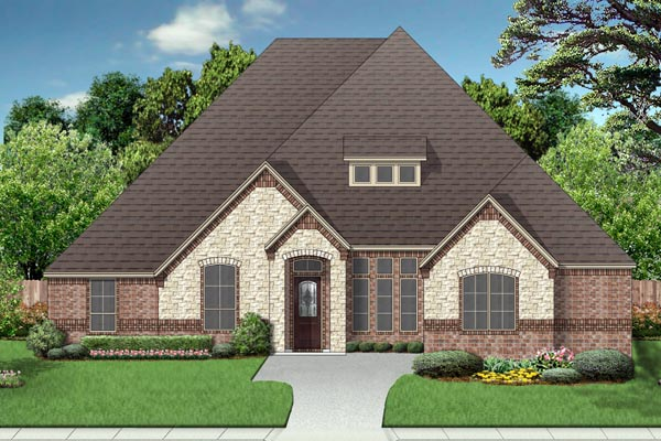 European Traditional House Plan 87996 Elevation