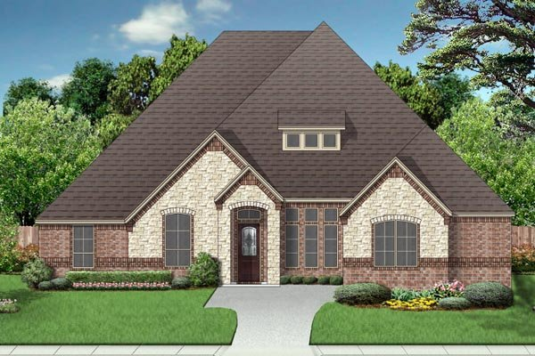 European, Traditional House Plan 87996 with 4 Beds, 3 Baths, 3 Car Garage Elevation