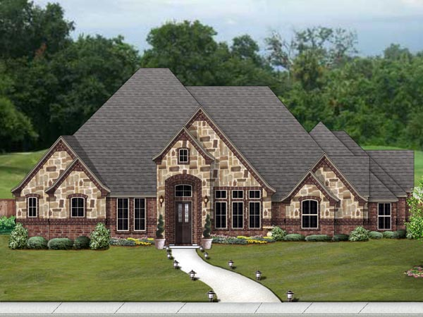 European Traditional Tudor House Plan 87997 Elevation