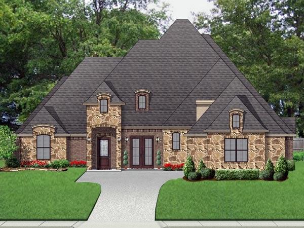European Traditional Tudor House Plan 87998 Elevation