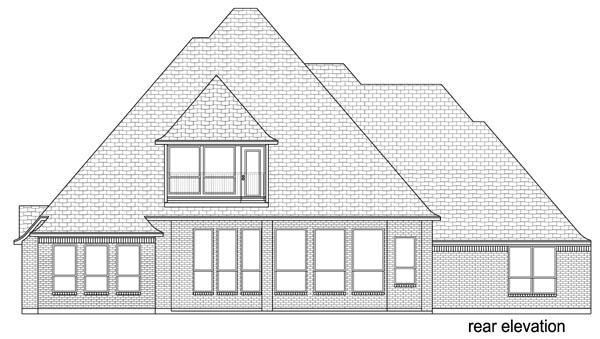 European Traditional Tudor House Plan 87998 Rear Elevation