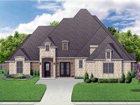 European Traditional Tudor House Plan 87999 Elevation