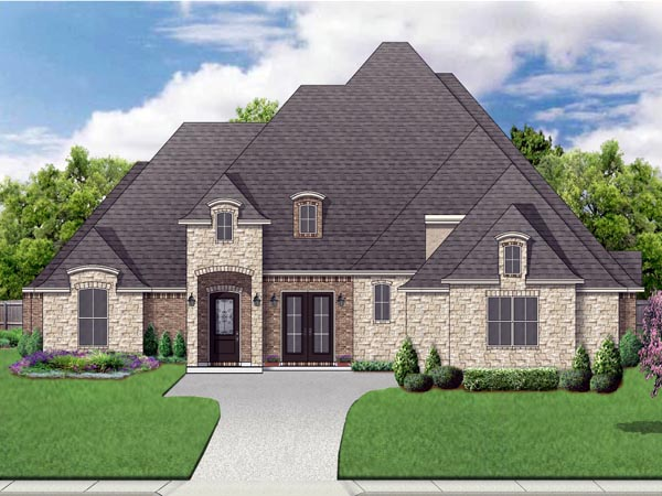 European, Traditional, Tudor House Plan 87999 with 4 Beds, 4 Baths, 3 Car Garage Elevation