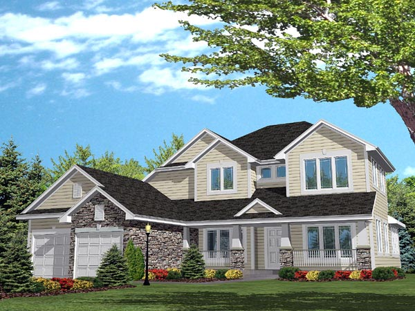 Traditional House Plan 88015 Elevation