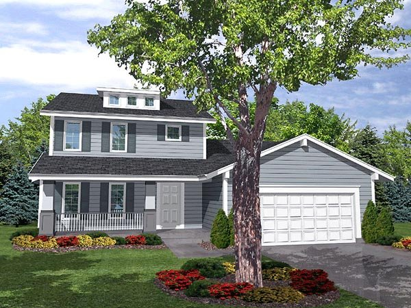 Bungalow , Traditional House Plan 88018 with 4 Beds, 2.5 Baths, 2 Car Garage Elevation