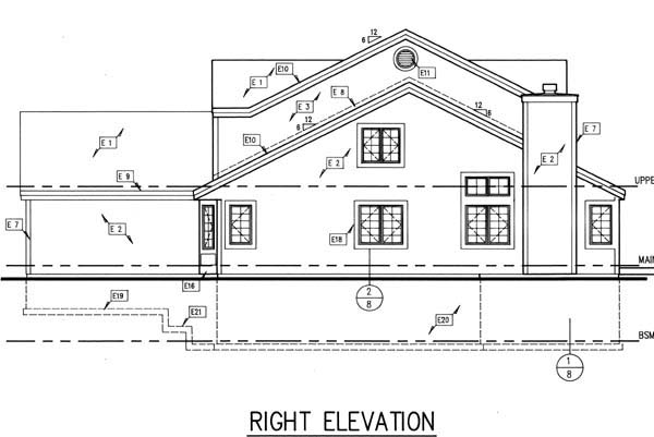 Country, Traditional House Plan 88154 with 3 Beds, 3 Baths, 2 Car Garage Picture 2