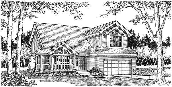 Traditional House Plan 88159 Elevation
