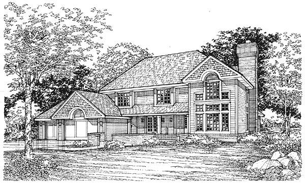 European Traditional House Plan 88164 Elevation