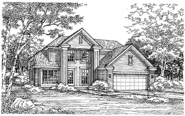Traditional House Plan 88167 Elevation