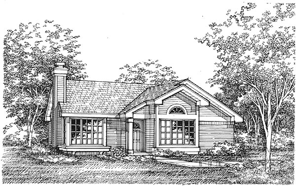Traditional House Plan 88170 Elevation