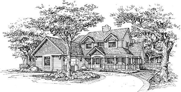 Farmhouse House Plan 88175 Elevation