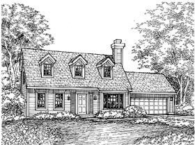 Cape Cod House Plan 88177 Elevation