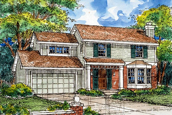 Traditional House Plan 88179 Elevation