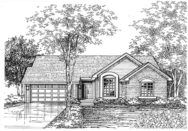 Ranch Traditional House Plan 88181 Elevation