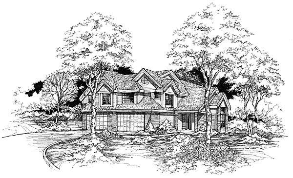 Traditional Multi-Family Plan 88185 Elevation