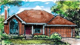 European Traditional House Plan 88187 Elevation