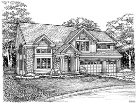 Traditional House Plan 88195 Elevation