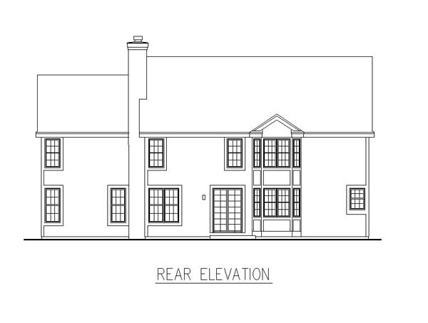 Traditional House Plan 88195 Rear Elevation