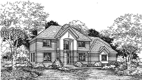 European Traditional House Plan 88197 Elevation