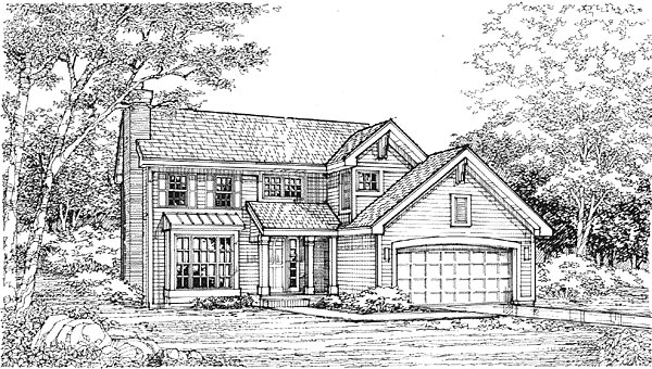 Traditional House Plan 88199 Elevation