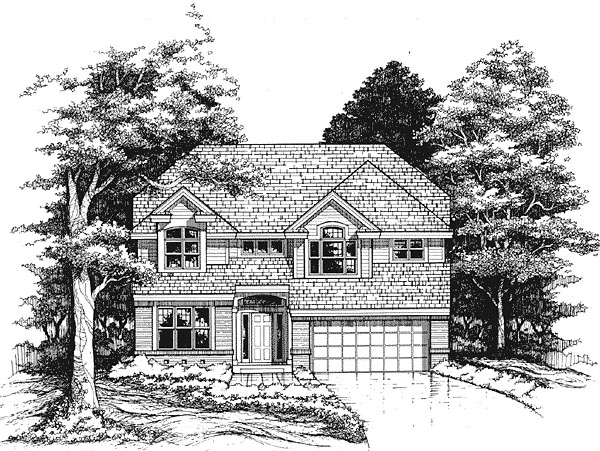 Traditional House Plan 88202 Elevation