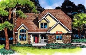 European Traditional House Plan 88219 Elevation