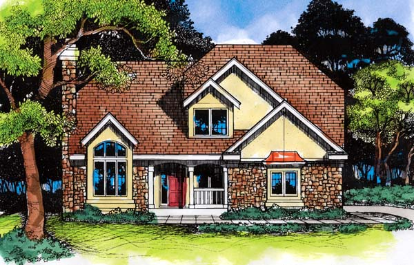 European Traditional House Plan 88219 Elevation