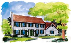 Colonial House Plan 88223 Elevation