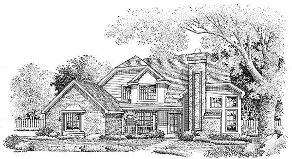 European Traditional House Plan 88225 Elevation
